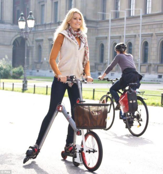 Skateboard, bicicleta sau patine cu rotile? AeYO le combina pe toate