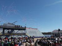 Marina americana a lansat la apa prima nava de razboi invizibila dintr-o noua categorie de distrugatoare