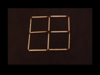 Provocare: muta doar doua bete ca sa obtii 6 patrate. Iata raspunsul