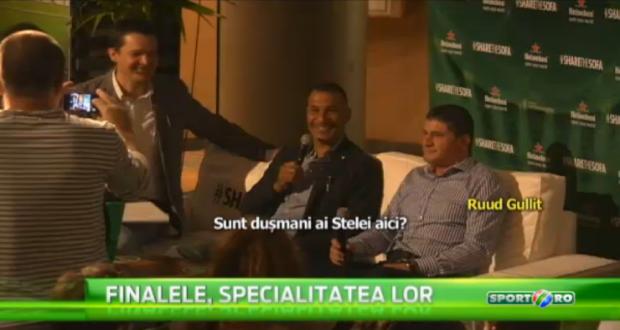 Povestea unei seri ireale! Au iesit sa vada meciul la o bere si s-au trezit la masa cu Gullit, Iovan si Dan Petrescu! VIDEO