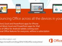 Microsoft Office poate fi instalat gratuit pe gadgeturi cu Android si iOS