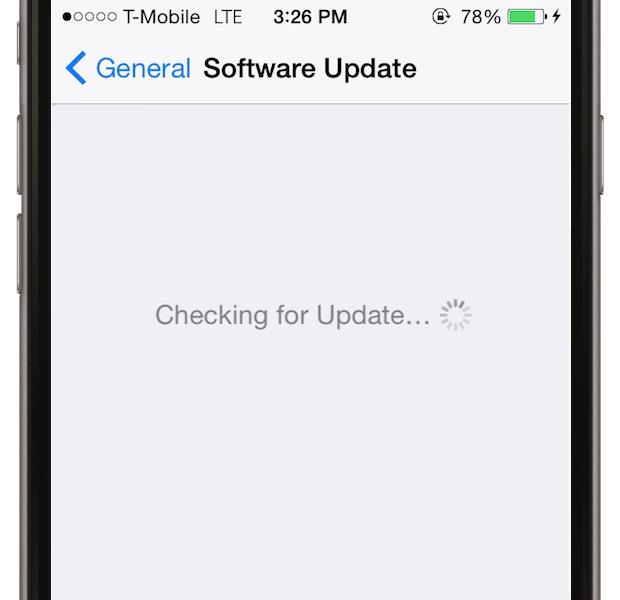 Cauta regulat dupa update-uri de iOS care rezolva bug-urile - asigura-te ca esti conectat la Wi-Fi si mergi la Settings > General > Software Update