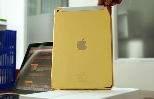 Primele imagini cu Apple iPad Air 2 din aur de 24K. Cat costa tableta