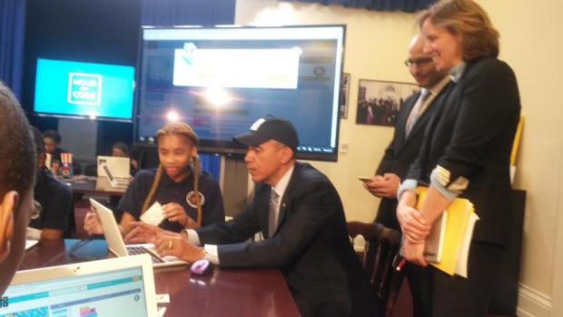 FOTO Barack Obama a invatat programare. Care a fost prima linie de cod scrisa de presedintele SUA