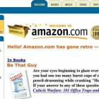 Cei de la Amazon au revenit la primul design din 1999 cu ocazia zilei de 1 aprilie - doar pentru primele 30 de secunde, apoi se revine la actuala forma