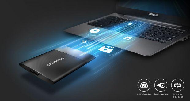 Gama de SSD-uri portabile Samsung T1, disponibila in Romania