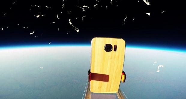 Au luat noul Galaxy S6 si l-au dus in spatiu! Ce s-a intamplat cu telefonul dupa ce a cazut de la o altitudine de 37.266m