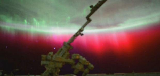 Imagini superbe din spatiu! Un astronaut a surprins aurora boreala de pe Statia Spatiala Internationala. Video