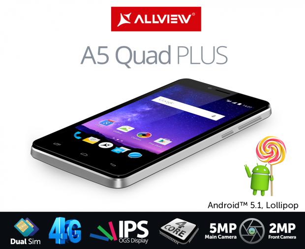 Allview lanseaza cel mai accesibil smartphone cu sistem de operare Lollipop. Cat costa