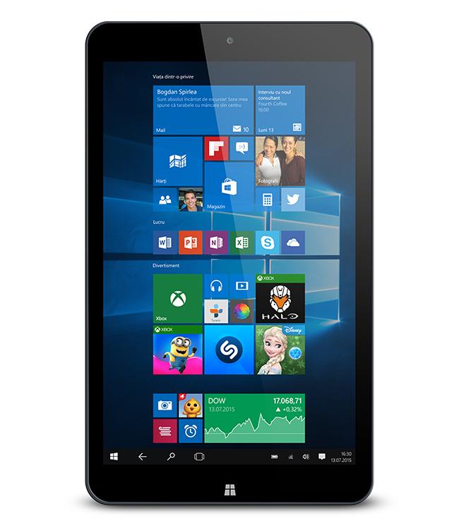 Allview Wi8G - 8 inch, quad-core, 1GB de RAM, 16 GB de spatiu, bateire de 3800mAh. Pret: 649RON