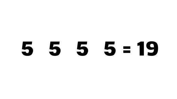 Doar 0.1% stiu raspunsul genial de la aceasta ecuatie! Care este singurul mod in care raspunsul e 19