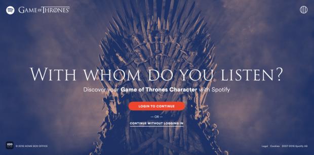 Jocul propus de una dintre cele mai cunoscute aplicatii. Ce personaj din Game of Thrones esti in functie de muzica pe care o asculti