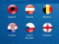 4 tari au fost  uitate  in aplicatia oficiala pentru UEFA Euro 2016