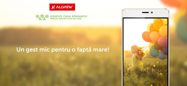 Allview lanseaza impreuna cu HOSPICE Casa Sperantei campania  Un gest mic pentru o fapta mare