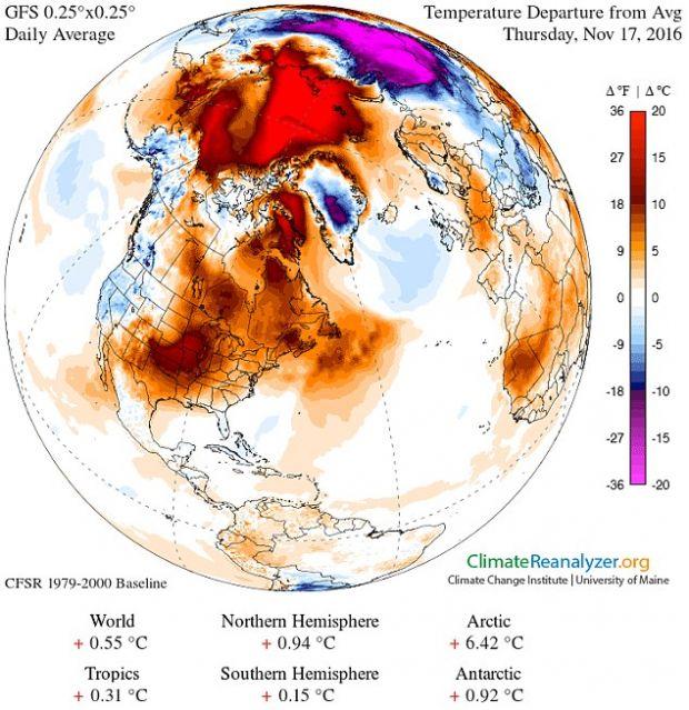 E fara precedent! Expertii sunt uluiti de temperaturile inregistrate acum la Polul Nord