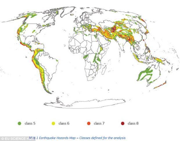 Harta dezastrelor naturale: Romania este printre tarile cu cei mai multi locuitori expusi la risc seismic