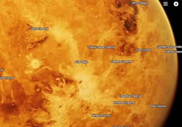 Planetele din sistemul nostru solar, incluse in Google Maps! Ce putem vedea pe Marte sau Venus