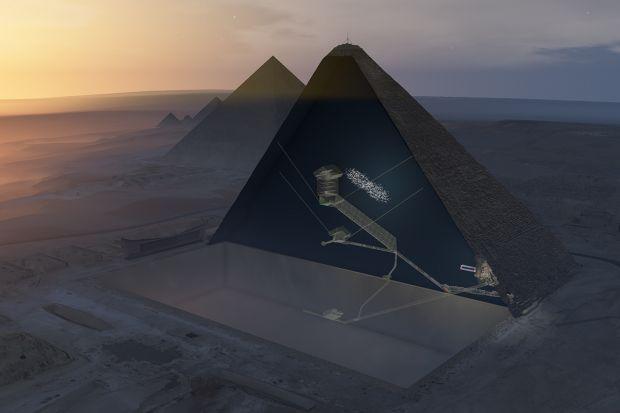 O incapere secreta uriasa, descoperita in Piramida lui Keops! A fost observata cu ajutorul razelor cosmice