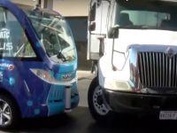 Grav incident cu primul autobuz pe pilot automat! Ce s-a intamplat cand a intrat in trafic