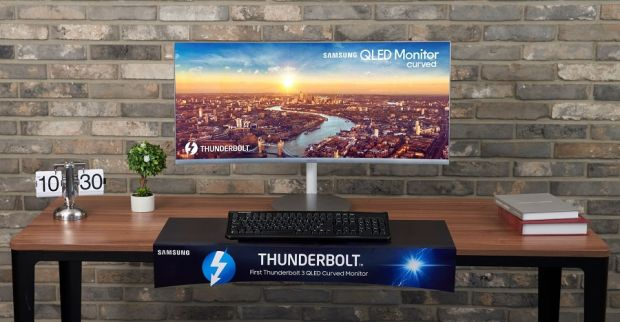 Samsung lansează la IFA Berlin primul monitor curbat QLED Thunderbolt 3 din lume