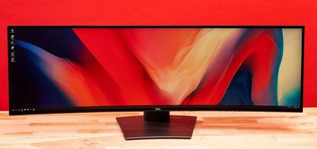 Nu, această imagine nu e făcută în Photoshop. Cum arată cel mai lat monitor QHD din lume lansat de către Dell