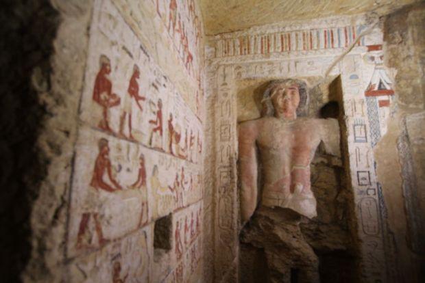 Descoperire surprinzătoare într-un mormânt din Egipt. Pentru prima dată arheologii au dat peste așa ceva