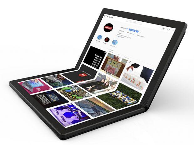 Primul laptop cu ecran pliabil din lume a fost prezentat oficial de Lenovo