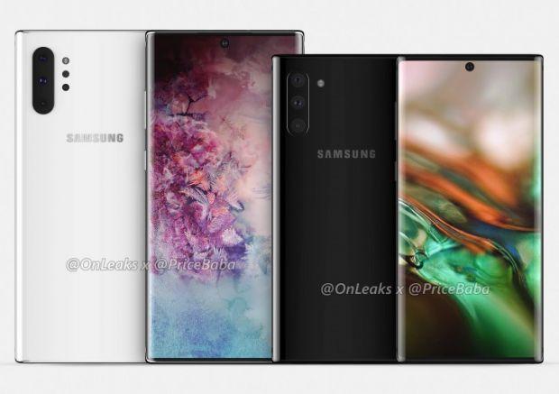 Samsung Galaxy Note 10. Schimbările la nivel de design, confirmate de randări
