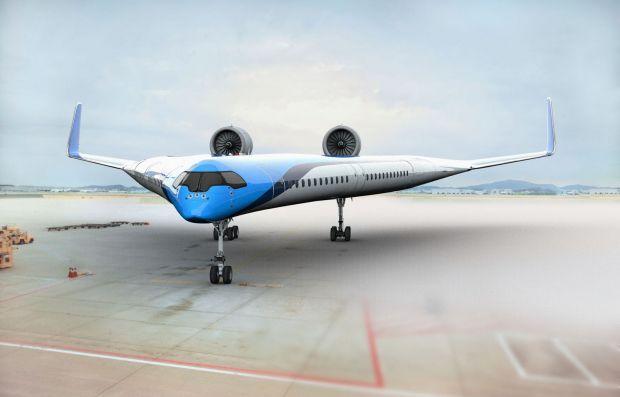 Cercetătorii olandezi pregătesc avionul viitorului. Flying-V va avea un design diferit