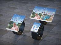 Primul ceas cu display pliabil din lume? Proiectul superb propus de IBM