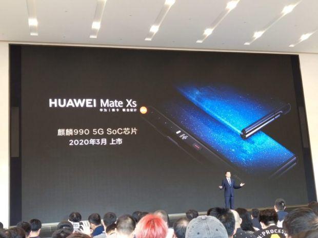 Huawei a anunțat noul smartphone Mate Xs, succesorul primului său telefon pliabil