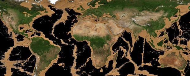 Cum ar arăta Pământul dacă toate oceanele ar seca. Simularea incredibilă realizată de NASA