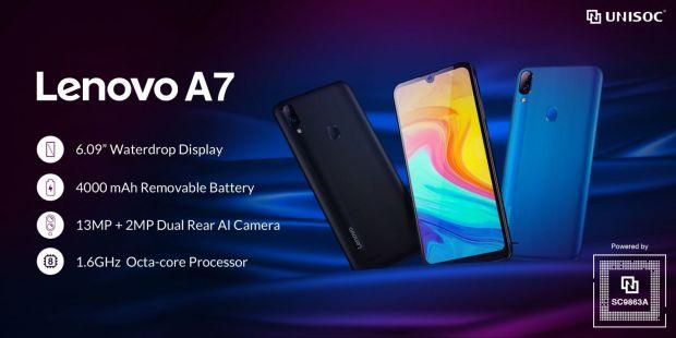 Lenovo prezintă telefonul entry-level A7 cu procesor Unisoc, la un preț incredibil