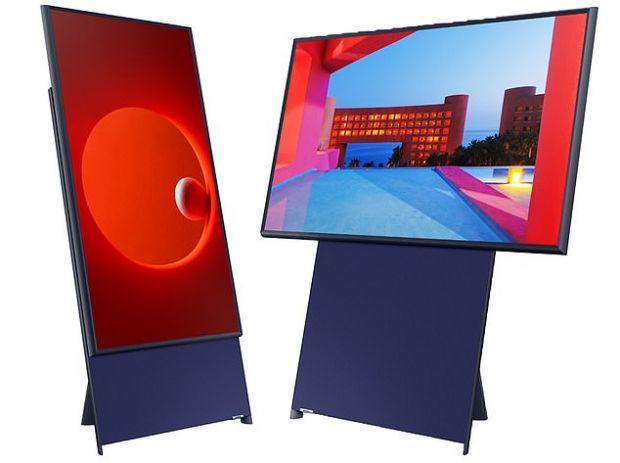 Samsung a lansat un televizor rotativ, cu ecran care poate fi vertical sau orizontal