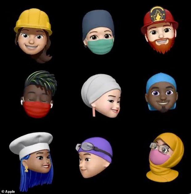 Apple introduce noi Memoji, inclusiv unele care poartă mască de protecție
