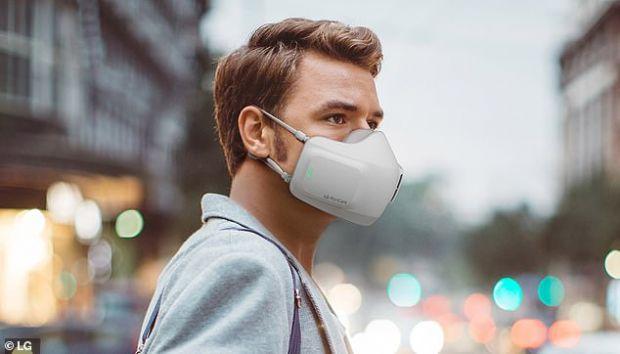 LG lansează o mască de protecție cu ventilatoare și filtre de aer integrate