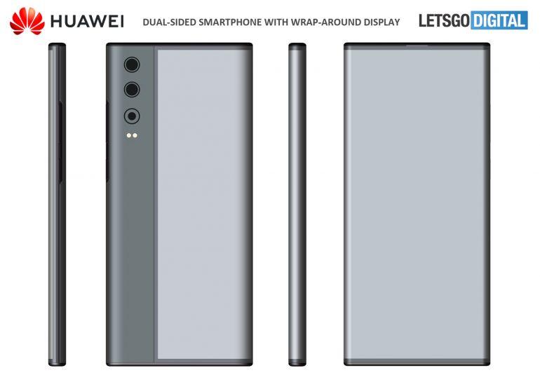 Huawei a obținut brevet pentru un smartphone cu ecran care se înfășoară în jurul dispozitivului