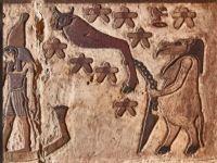 Imagini stranii, descoperite pe pereții unui templu egiptean. Ce reprezintă basorelieful