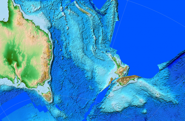 Continentul pierdut Zealandia, cartografiat pentru prima dată