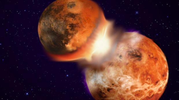 Rămășițele unei alte planete s-ar putea găsi în adâncurile Pământului. Datează de la formarea Lunii