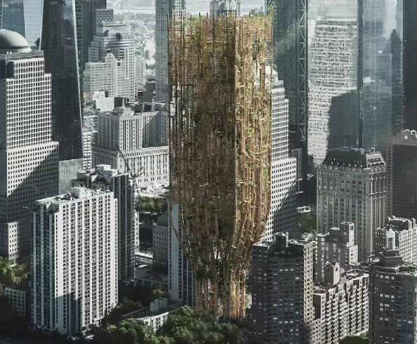 Zgârie-nori construiți din copaci: proiectul inedit al unor arhitecți
