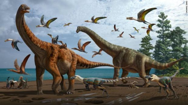 Două noi specii de dinozauri, de dimensiunea balenei albastre, descoperite în China