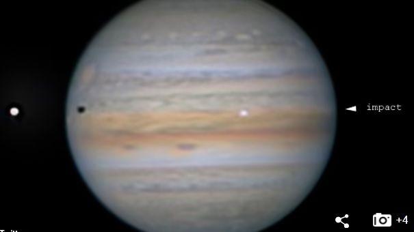 Un obiect misterios s-a prăbușit pe Jupiter. Imaginile surprinse de un astronom amator